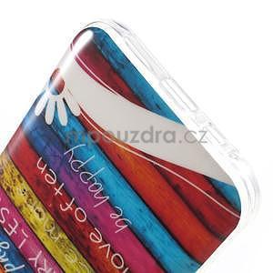 Gelový obal na mobil Samsung Galaxy E5 - barevné desky - 4