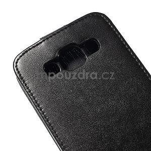 PU kožené flipové pouzdro Samsung Galaxy E5 - černé - 4