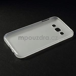Matný gelový obal na Samsung Galaxy E5 - bílý - 4