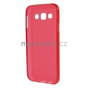 Matný gelový obal na Samsung Galaxy E5 - červený - 4