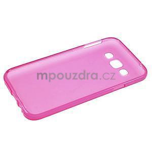 Matný gelový obal na Samsung Galaxy E5 - rose - 4