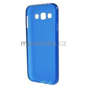 Matný gelový obal na Samsung Galaxy E5 - modrý - 4