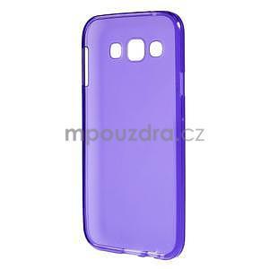 Matný gelový obal na Samsung Galaxy E5 - fialový - 4