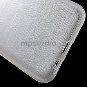 Broušené gelový kryt na Samsung Galaxy E5 - bílý - 4