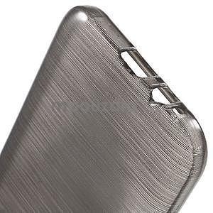 Broušené gelový kryt na Samsung Galaxy E5 - šedý - 4