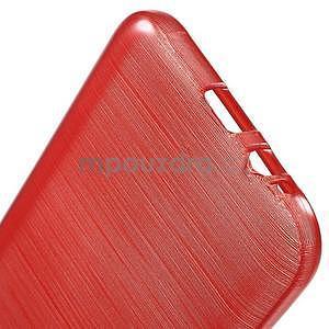 Broušené gelový kryt na Samsung Galaxy E5 - červený - 4
