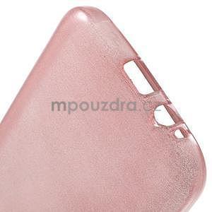 Broušené gelový kryt na Samsung Galaxy E5 - růžový - 4