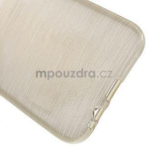 Broušené gelový kryt na Samsung Galaxy E5 - champagne - 4