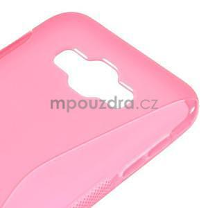 S-line gelový obal na Samsung Galaxy E7 - rose - 4