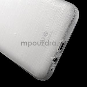 Broušený gelový obal pro Samsung Galaxy E7 - bílý - 4