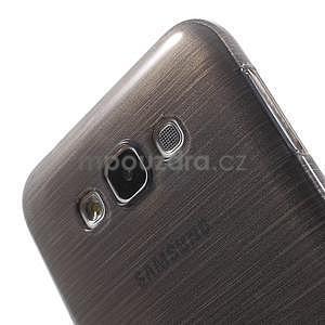 Broušený gelový obal pro Samsung Galaxy E7 - šedý - 4