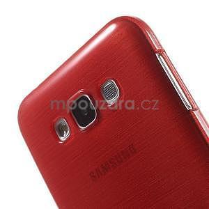 Broušený gelový obal pro Samsung Galaxy E7 - červený - 4