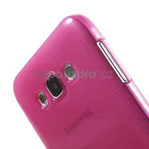 Broušený gelový obal pro Samsung Galaxy E7 - rose - 4