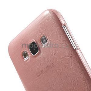 Broušený gelový obal pro Samsung Galaxy E7 - růžový - 4