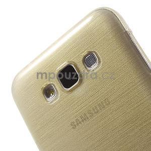 Broušený gelový obal pro Samsung Galaxy E7 - champagne - 4