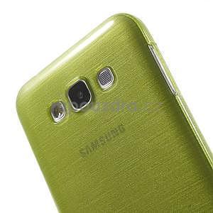 Broušený gelový obal pro Samsung Galaxy E7 - zelený - 4