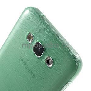 Broušený gelový obal pro Samsung Galaxy E7 - cyan - 4