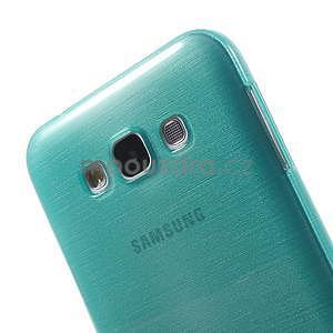 Broušený gelový obal pro Samsung Galaxy E7 - tyrkysový - 4