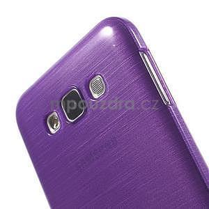 Broušený gelový obal pro Samsung Galaxy E7 - fialový - 4