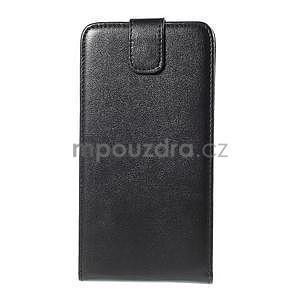 Černé flipové PU kožené pouzdro na Samsung Galaxy E7 - 4