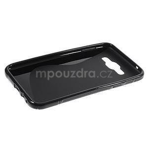 S-line gelový obal na Samsung Galaxy E7 - černý - 4