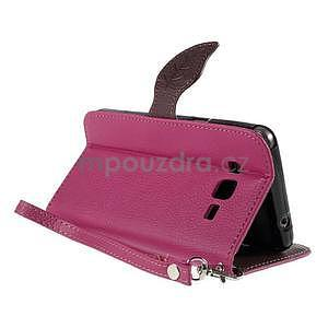 Rose/hnědé zapínací peněženkové pouzdro na Samsung Galaxy Grand Prime - 4
