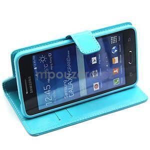 Tyrkysové pouzdro na Samsung Galaxy Grand Prime - 4