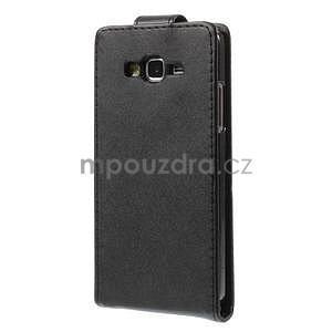 Černé flipové pouzdro na Samsung Galaxy Grand Prime - 4