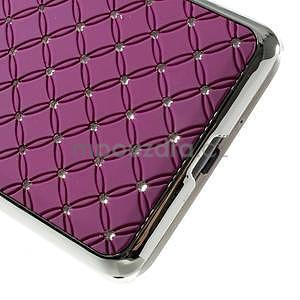 Fialový drahokamový kryt na Samsung Grand Prime - 4