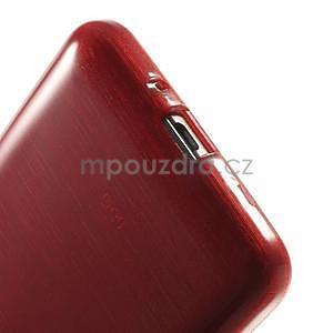 Broušený gelový obal pro Samsung Galaxy Grand Prime - červený - 4