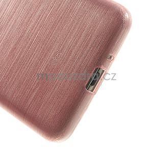 Broušený gelový obal pro Samsung Galaxy Grand Prime - růžový - 4