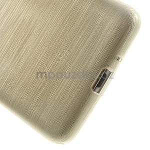 Broušený gelový obal pro Samsung Galaxy Grand Prime - zlatý - 4