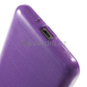 Broušený gelový obal pro Samsung Galaxy Grand Prime - fialový - 4
