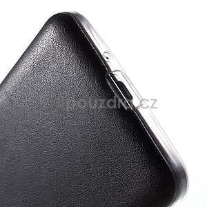 Ultratenký gelový kryt s imitací kůže na Samsung Grand Prime - černý - 4