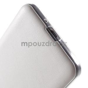 Ultratenký gelový kryt s imitací kůže na Samsung Grand Prime - bílý - 4