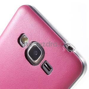 Ultratenký gelový kryt s imitací kůže na Samsung Grand Prime - rose - 4
