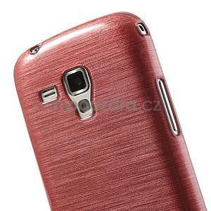 Broušený gelový kryt na Samsung Galaxy S Duos - růžový - 4
