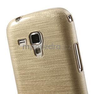 Broušený gelový kryt na Samsung Galaxy S Duos - zlatý - 4