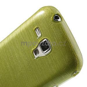 Broušený gelový kryt na Samsung Galaxy S Duos - zeleno žlutý - 4