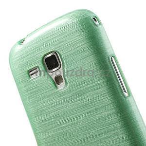 Broušený gelový kryt na Samsung Galaxy S Duos - zelený - 4
