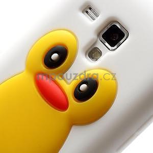 Silikonový obal tučňák na Samsung Galaxy S Duos - bílý - 4