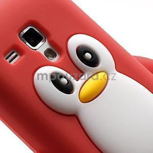 Silikonový obal tučňák na Samsung Galaxy S Duos - červený - 4