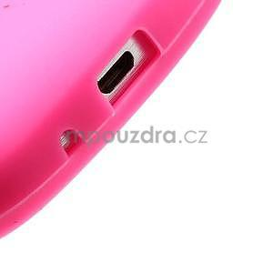 Silikonový obal tučňák na Samsung Galaxy S Duos - rose - 4