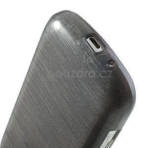 Broušený gelový kryt na Samsung Galaxy S Duos - šedý - 4