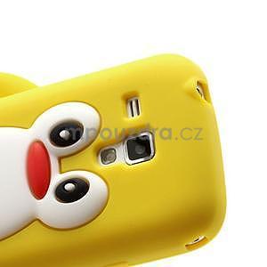 Silikonový obal tučňák na Samsung Galaxy S Duos - žlutý - 4