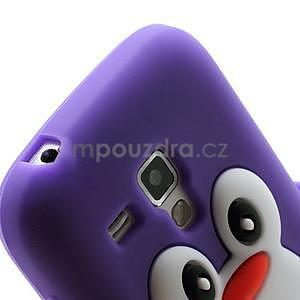 Silikonový obal tučňák na Samsung Galaxy S Duos - fialový - 4
