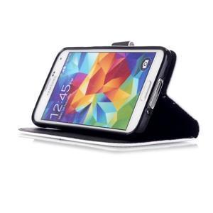 Knížkové PU kožené pouzdro na Samsung Galaxy S5 - nešahej na můj telefon - 4