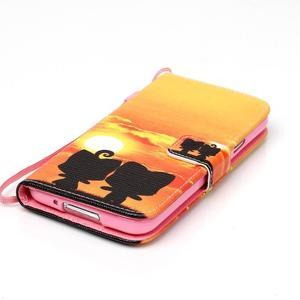 Knížkové PU kožené pouzdro na Samsung Galaxy S5 - západ slunce - 4