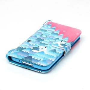 Knížkové PU kožené pouzdro na Samsung Galaxy S5 - sněžný muž - 4