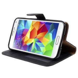 Clothy Pu kožené pouzdro na Samsung Galaxy S5 - černé - 4